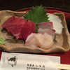旬彩魚 いなだ - 料理写真:刺身盛り合わせはマグロの赤身とホタテとカンパチ