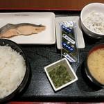 和食処 天きん - ・「焼鮭定食(\550)」