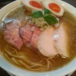 らぁ麺 紫陽花 - 鶏油煮干しらぁ麺大盛+特製トッピング