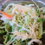 カフェと印度家庭料理 レカ - レカ 葛西本店 @東葛西 サブジ1種類とチャパティの軽めのセットのサラダ