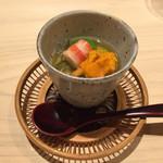 すし宮川  - 料理写真:じゅんさい 車エビ ウニ
