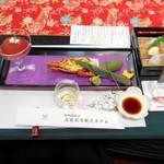 岩国国際観光ホテル - 料理写真:先附 岩国産トマトのコンポート ちまき寿司 ロブスターのタルタル 玉子蒲鉾