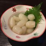 村上水産仲買人直営店鮮魚部 - 料理写真:らっきょう
