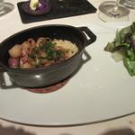 レストラン 間 - 「桜海老とホタルイカ御飯、山うどのピクルス」