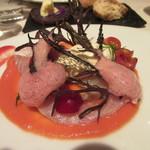 レストラン 間 - 春スズキとトマト
