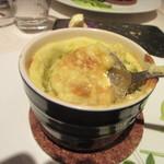 レストラン 間 - そら豆と蟹のスフレ