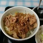 家庭の味 鹿沼そば 一心愛 - ぶた丼(日替りランチ)