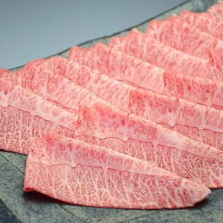 素材へのこだわり最高の極上肉「黒毛和牛ミスジ肉使用」