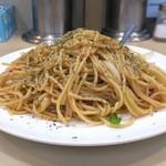 むさしや - 和風スパゲティー(バター風味のさっぱり醤油味)650円、大盛100円