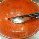 麺匠 呉屋 - スープ完飲ですっ!