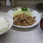 角常食堂 - 料理写真:とんばら生姜焼定食  650円