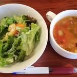67425825 - サラダとスープ