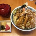 天松 おもて - 天丼(1,200円/天松 おもて) 2017.5