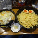 麺処 花田 - 味噌つけ麺+味卵