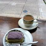 カフェ・カルディー - ケーキセット(自家製モンブラン)580円