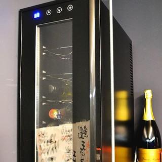 ワインセラーで最高の状態で保管したワインがいただけます♪