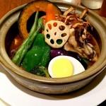 札幌スープカレー傾奇 - チキンレッグカレー(野菜増し)