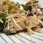 栄寿司 - 太刀魚のたたきのアップ