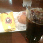サンマルクカフェ - 夏限定のマンゴーココナツチョコクロとアイスコーヒー