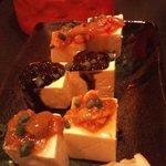 くくる - 3種塩辛+島豆腐