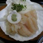 松浦食堂 - 帆立のお刺身