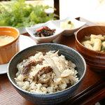 カフェ ジータ - 牛ごぼうの炊き込みご飯
