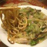 宵彌 - 鶏皿うどん/太麺:もちもち
