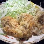 季節料理 西田 - カキフライのアップ