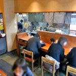 麺屋 一本気 - カウンター席(2011年2月)
