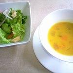 ビストロ・メゾン・ド・クニ - サラダ、スープ