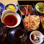 和食処 するが蕎 - 料理写真:当店の店名が付いた定食、ご接待や法事のお料理にもよくご注文いただきます。