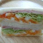 ほうの木 - 玉子・ハム・レタスのサンドイッチ¥320