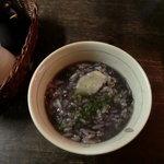 茶房 暖暖 - 調味料はお好みで岩塩と大和茶粉末
