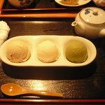祇園きなな - きなな三種盛り(プレーン・ピンクグレープフルーツ・抹茶)