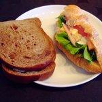 杏樹 - 料理写真:コーヒーサンド、クロワッサンサンド