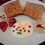 元町カフェ - 可愛らしいデコレーションのケーキです☆