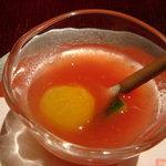 鉄板懐石 宴 - 前菜のスープ