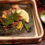 鉄板懐石 宴 - メインのお肉