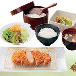 浜勝 - 国産ハーブ豚のロースかつ膳