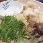 鳥八の魚や - 真たち天ぷら(\800-)