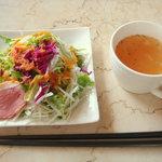ポエム - ランチセットのサラダ&スープ