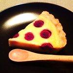 ヤノケーキテン モク - ラズベリーとカスタードのケーキ
