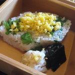 味菜香 やま脇 - 菜の花と黄身そぼろの混ぜご飯