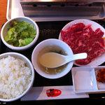 ぴゅあ - 牛ハラミランチ(肉1.5人盛り)(1,200円)