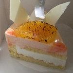 ラフェクレール - 赤いオレンジとヨーグルトのお菓子 400円