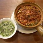 五指山 - 麻婆土鍋ご飯(スープ付)¥850