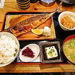 漁十八番 - 焼鯖定食