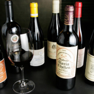 ワイン70種以上を常備!その他、各種ドリンクございます。