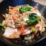 チョンハ食堂 - チャプチェ 韓国風の野菜炒め。野菜盛り沢山で滋養たっぷり。
