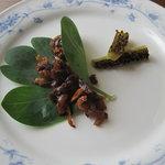 ステーキレストラン パポイヤ - カリカリに焼いた脂身